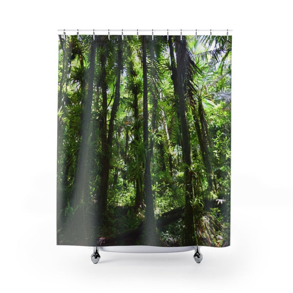 Shower Curtains - Awesome rain forest before Maria - Sierra Palm cloud forest - on YOUR shower - SingleClick.store