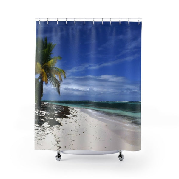 Shower Curtains - Breathtaking Mona Island pajaros beach on YOUR shower (bundle) - SingleClick.store
