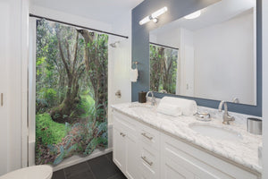 Shower Curtains - Paradise path Tradewinds trail - El Yunque - cloud forest - on YOUR shower - SingleClick.store