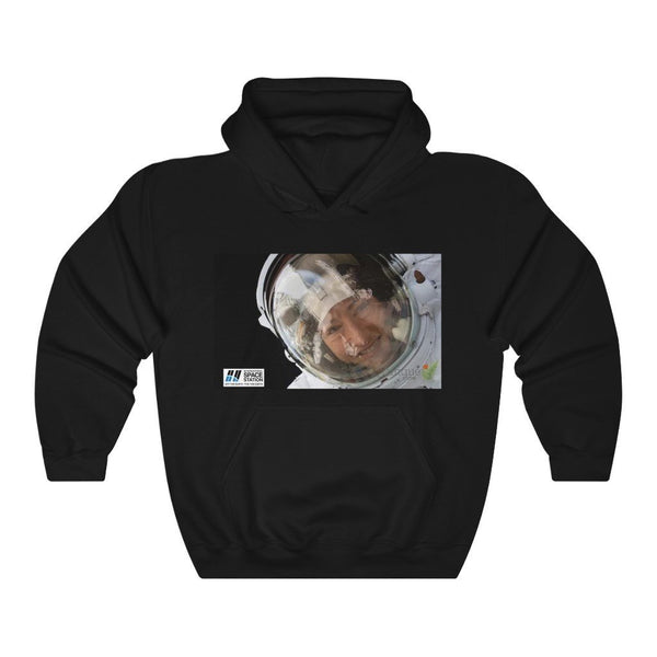 Space DEAL $28 - Gildan 18500 - Unisex Hooded Sweatshirt - Astronaut Christina Koch back on Earth after record-breaking 328 days in space - Jupiter closeup - SingleClick.store