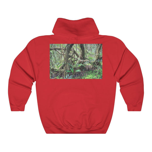 Unisex Heavy Blend™ Hooded Sweatshirt - El Yunque dancing trees in cloud forest - PR - SingleClick.store