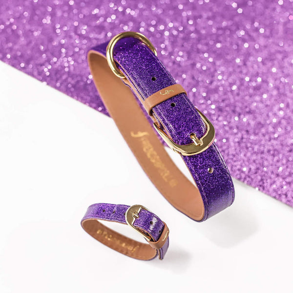 The Sparkling Pup: Glitter Purple