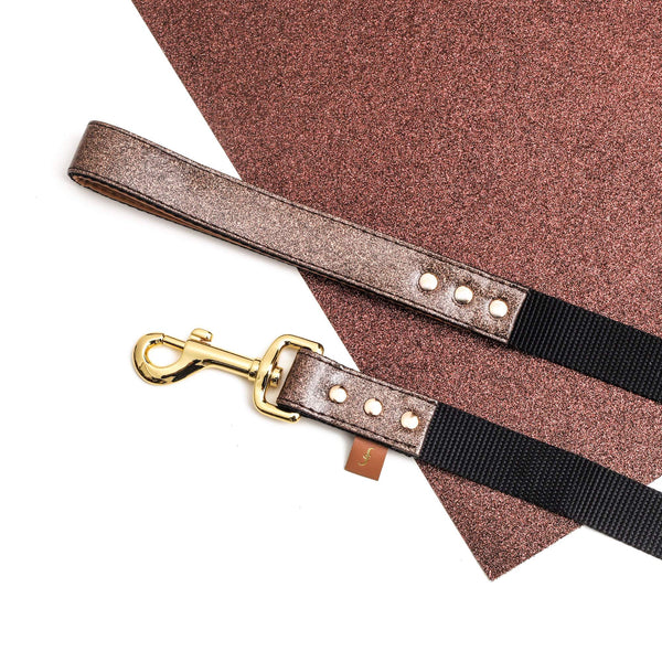 The Sparkling Pup: Glitter Bronze - Leash