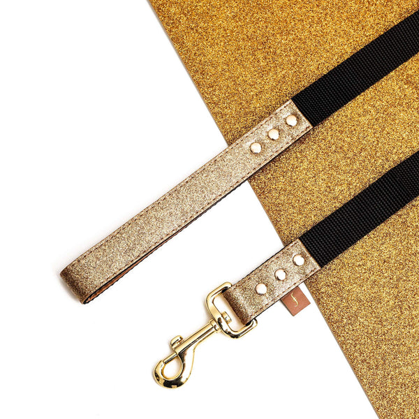 The Sparkling Pup: Glitter Gold - Leash