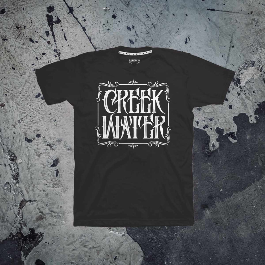 Creek Water Unisex Black T-Shirt