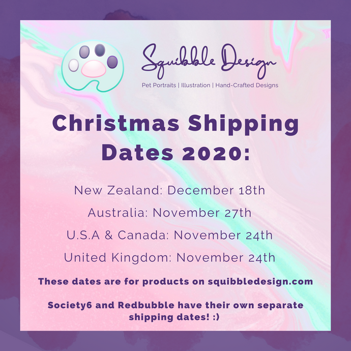 Christmas Shipping Dates 2020