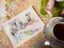 Load image into Gallery viewer, Art Print - Deathly Tea Party