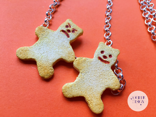 Double Tiny Teddy Necklace!