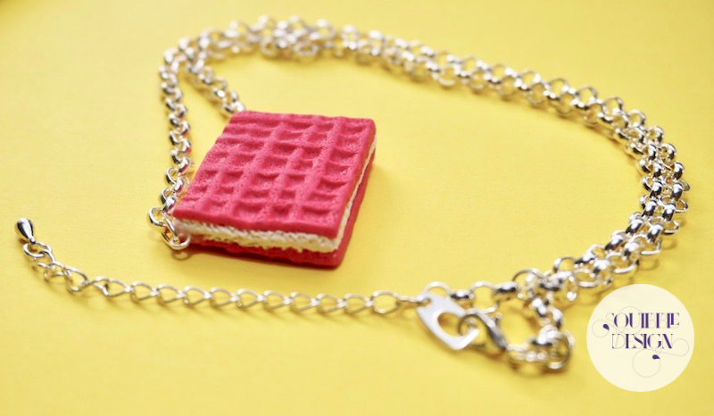 Pink Wafer Necklace