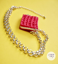 Load image into Gallery viewer, Pink Wafer Necklace