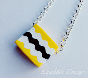 Yellow Licorice Allsort Necklace