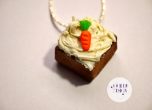 Load image into Gallery viewer, Tiny Carrot Cake Necklace