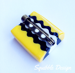 Yellow Licorice Allsort Pin