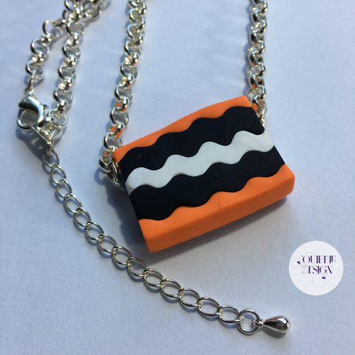 Orange Licorice Allsort Necklace