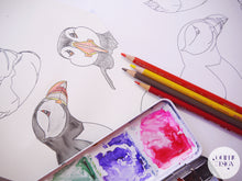 Load image into Gallery viewer, Colouring Page - Puffins!