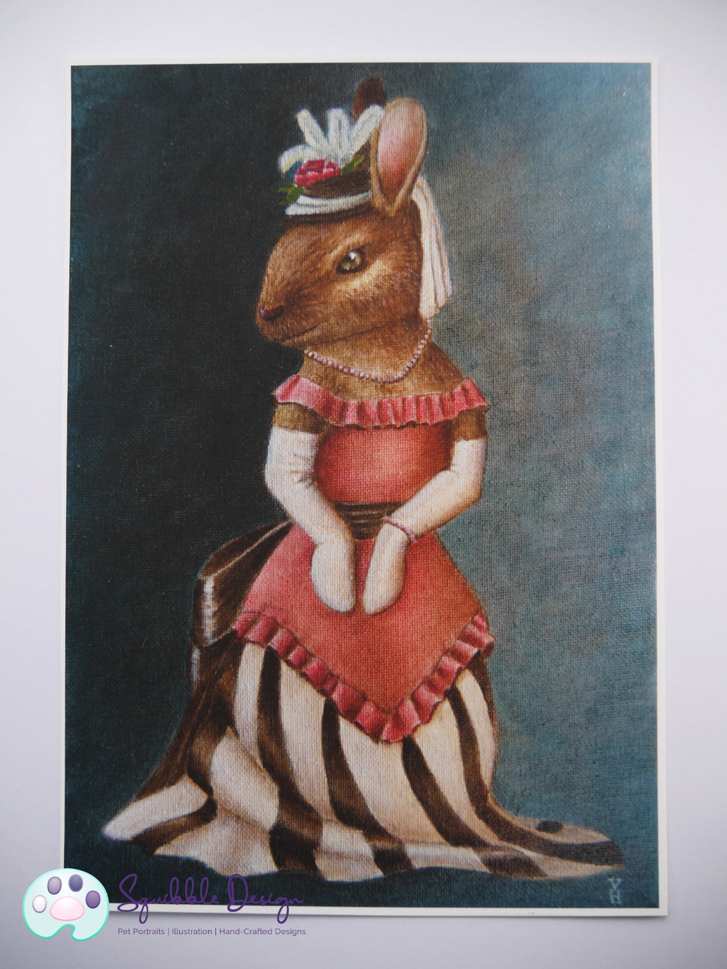 Art Print - Miss Bunny | Victorian Animal Family