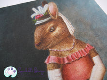 Load image into Gallery viewer, Art Print - Miss Bunny | Victorian Animal Family
