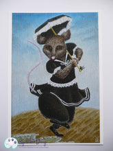Load image into Gallery viewer, Art Print - Miss Mouse | Victorian Animal Family