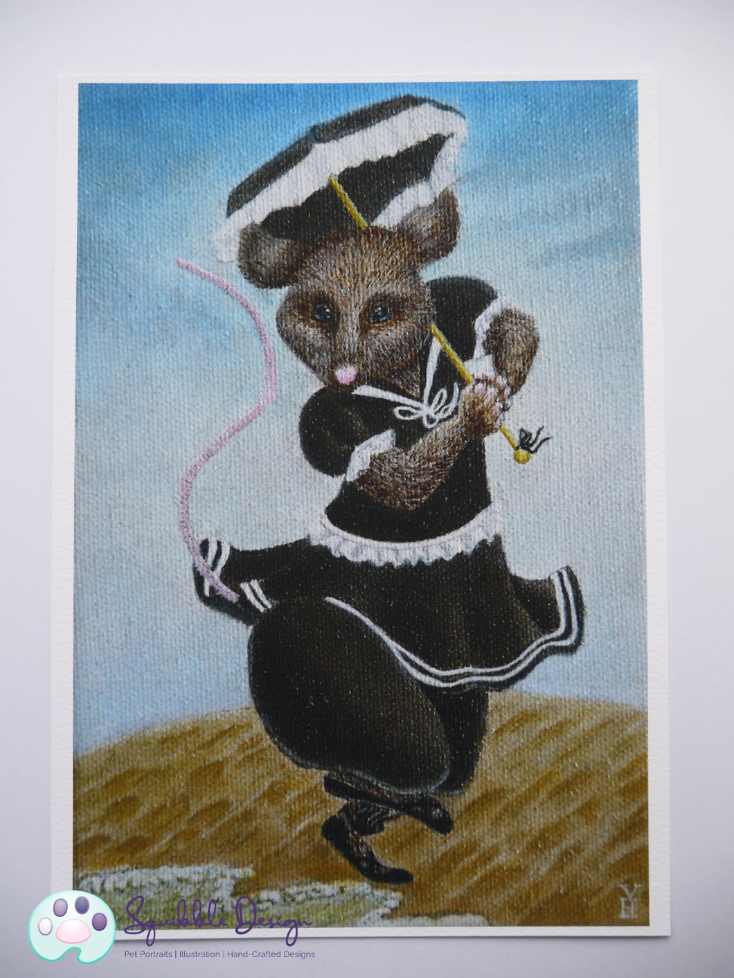 Art Print - Miss Mouse | Victorian Animal Family