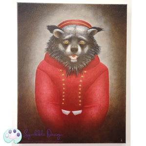 Oil Painting - Mr Binturong | Victorian Animal Family