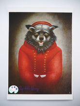 Load image into Gallery viewer, Art Print - Mr Binturong | Victorian Animal Family