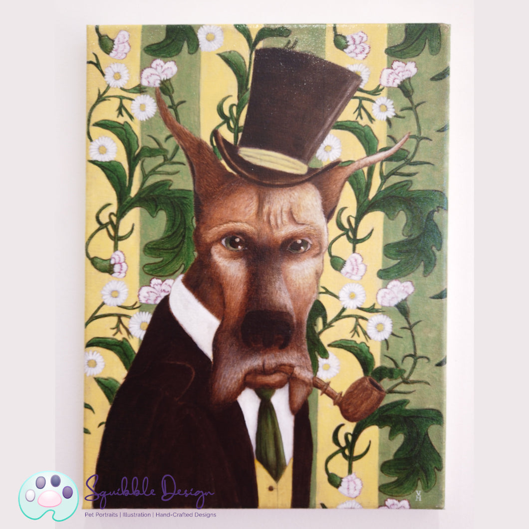Oil Painting - Mr Great Dane | Victorian Animal Family