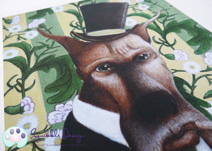 Art Print - Mr Great Dane | Victorian Animal Family