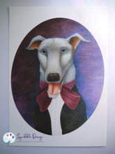 Load image into Gallery viewer, Art Print - Mr Greyhound | Victorian Animal Family