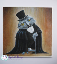 Load image into Gallery viewer, Art Print - Mr Tawny Frogmouth | Victorian Animal Family