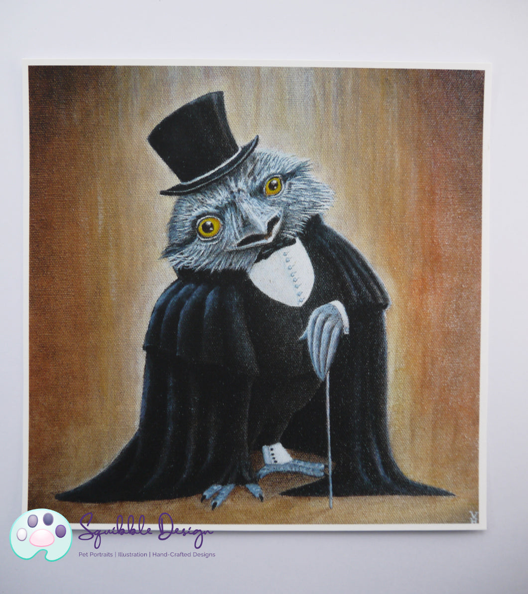 Art Print - Mr Tawny Frogmouth | Victorian Animal Family