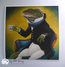 Load image into Gallery viewer, Art Print - Mr Tuatara | Victorian Animal Family