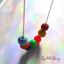 Load image into Gallery viewer, Rainbow Bead Necklace