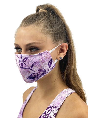 Vintage Purple Flower Face Cover