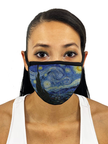 Starry Night Face Mask With Filter Pocket