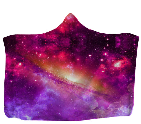 Pink Galaxy Hooded Blanket