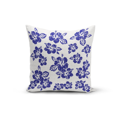 Blue Hibiscus Pillow Cover