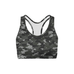 Black Hex Camo Sports Bra