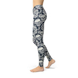 Beverly Black White Skulls Legging