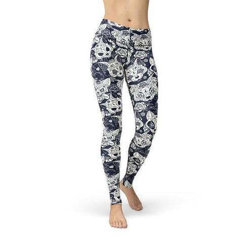 Beverly Cat Sugar Skulls Legging