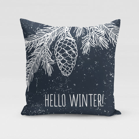 Hello Winter Pillow Cover