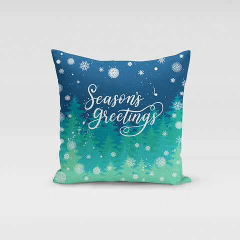 Seasons Greetings Pillow Cover