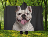 Bulldog Smile Hooded Blanket