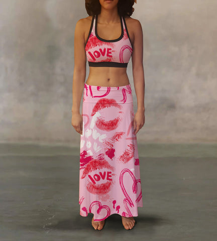 Love & Kisses Maxi Skirt