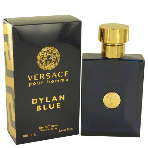Versace Pour Homme Dylan Blue by Versace Gift Set -- 0.17 oz Mini EDT + 0.8 oz After Shave Balm + 0.8 oz Shower Gel for Men