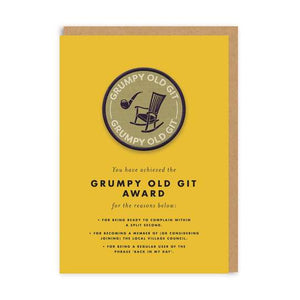 CARTE BADGE - GRUMPY OLD GIT