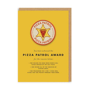 CARTE BADGE - PIZZA PATROL