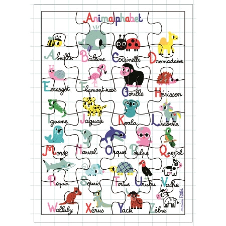 Carte Puzzle XL Animalphabet
