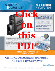 Datacard CD800 CLM and tactile My Choice promotion 2014