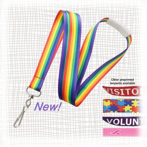 Preprinted Rainbow Lanyards DKC Associates
