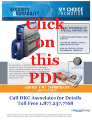 Datacard SD460 CLM inline lamination with tactile impression my choice promotion 2014